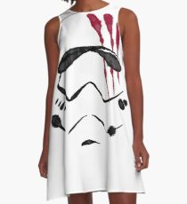 Blood on white helmet A-Line Dress