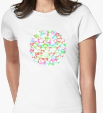 Circle of HeArts  - JUSTART © Women's Fitted T-Shirt