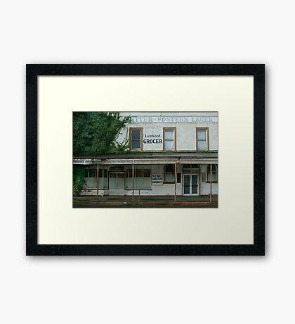 Fraser's Licensed Grocer Framed Print