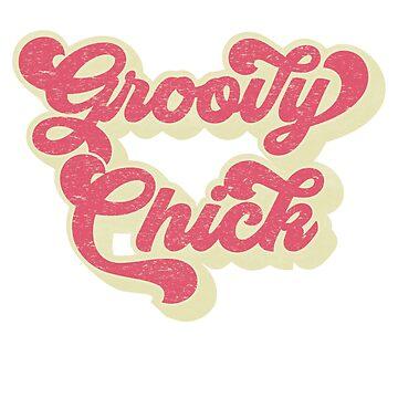 Groovy Chick Shirt Retro Style Shirt 70s Vintage Birthday Shirt by LuckyU-Design