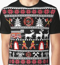 Firefighter Christmas Shirt.Firefighter Christmas Sweater T Shirts Redbubble