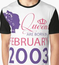 It's My Birthday 15. Made In February 2003. 2003 Gift Ideas. Graphic T-Shirt