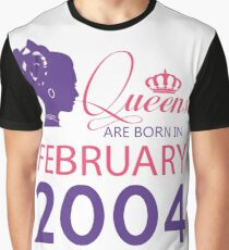 It's My Birthday 14. Made In February 2004. 2004 Gift Ideas. Graphic T-Shirt