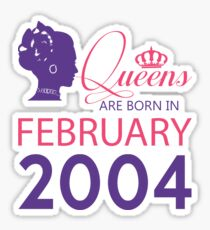 It's My Birthday 14. Made In February 2004. 2004 Gift Ideas. Sticker