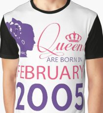 It's My Birthday 13. Made In February 2005. 2005 Gift Ideas. Graphic T-Shirt