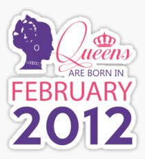 It's My Birthday 6. Made In February 2012. 2012 Gift Ideas. Sticker