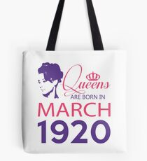 It's My Birthday 98. Made In March 1920. 1920 Gift Ideas. Tote Bag