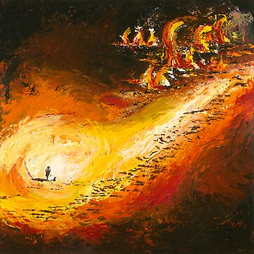 """The Land No 5 """"Fire in the Paddock"""" by Ochresands"""