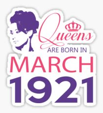 It's My Birthday 97. Made In March 1921. 1921 Gift Ideas. Sticker
