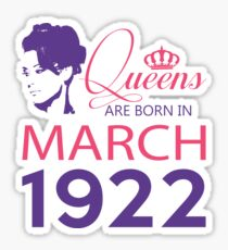It's My Birthday 96. Made In March 1922. 1922 Gift Ideas. Sticker