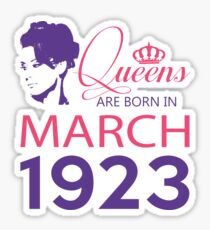 It's My Birthday 95. Made In March 1923. 1923 Gift Ideas. Sticker