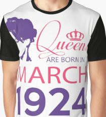 It's My Birthday 94. Made In March 1924. 1924 Gift Ideas. Graphic T-Shirt