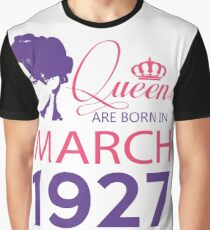 It's My Birthday 91. Made In March 1927. 1927 Gift Ideas. Graphic T-Shirt