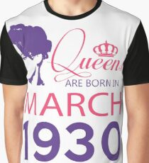 It's My Birthday 88. Made In March 1930. 1930 Gift Ideas. Graphic T-Shirt