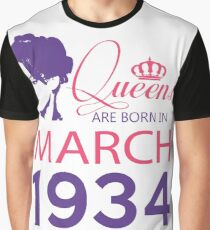 It's My Birthday 84. Made In March 1934. 1934 Gift Ideas. Graphic T-Shirt