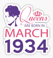 It's My Birthday 84. Made In March 1934. 1934 Gift Ideas. Sticker