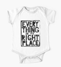 Everything in Its Right Place - Radiohead One Piece - Short Sleeve