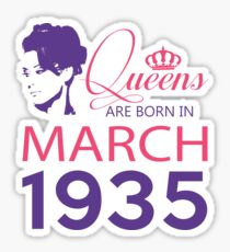 It's My Birthday 83. Made In March 1935. 1935 Gift Ideas. Sticker