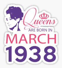 It's My Birthday 80. Made In March 1938. 1938 Gift Ideas. Sticker