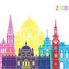 Zagreb Skyline Pop von paulrommer