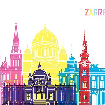 Zagreb skyline pop by paulrommer