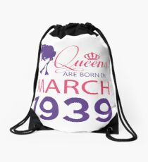 It's My Birthday 79. Made In March 1939. 1939 Gift Ideas. Drawstring Bag