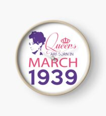 It's My Birthday 79. Made In March 1939. 1939 Gift Ideas. Clock