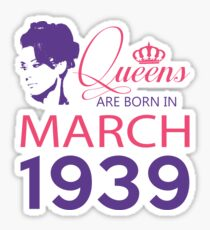 It's My Birthday 79. Made In March 1939. 1939 Gift Ideas. Sticker