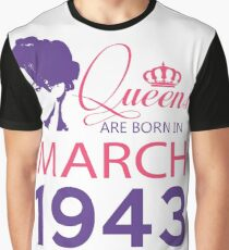 It's My Birthday 75. Made In March 1943. 1943 Gift Ideas. Graphic T-Shirt