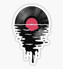 Pegatina Vinyl LP Record Sunset