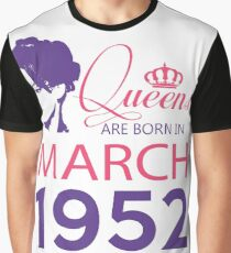 It's My Birthday 66. Made In March 1952. 1952 Gift Ideas. Graphic T-Shirt