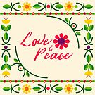 Floral Spring Love & Peace Inspirational  by Bubble-Designs