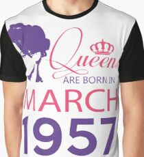 It's My Birthday 61. Made In March 1957. 1957 Gift Ideas. Graphic T-Shirt