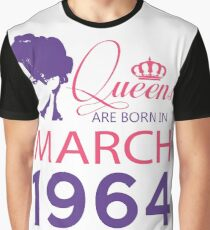 It's My Birthday 54. Made In March 1964. 1964 Gift Ideas. Graphic T-Shirt