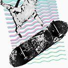 Kick Flip Retro Skateboarding Cat   Tony Hawk Cat   Alien Workshop   Baker Boards   SK8   Skater   Grunge Cat   SK8CAT  by RMorra