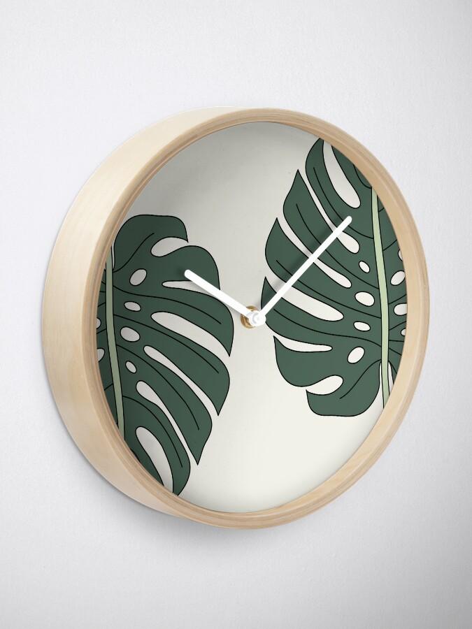 Alternate view of Monstera leaf by Elebea Clock