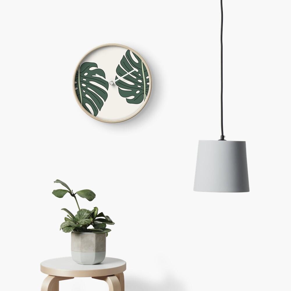 Monstera leaf by Elebea Clock