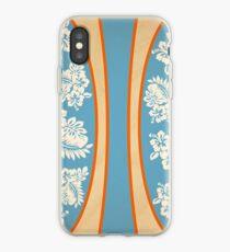 Malia Hibiscus - Blue Hawaiian Pareau Print  iPhone Case