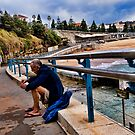 Alone, Coogee Pool by Geraldine Lefoe