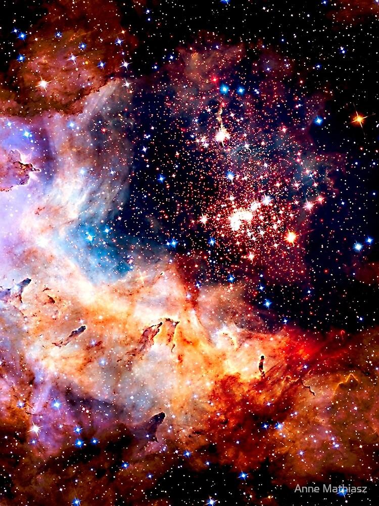 Kosmische Verbindung, Galaxie, Raum, Nebel, Sterne, Planet, Universum, von boom-art