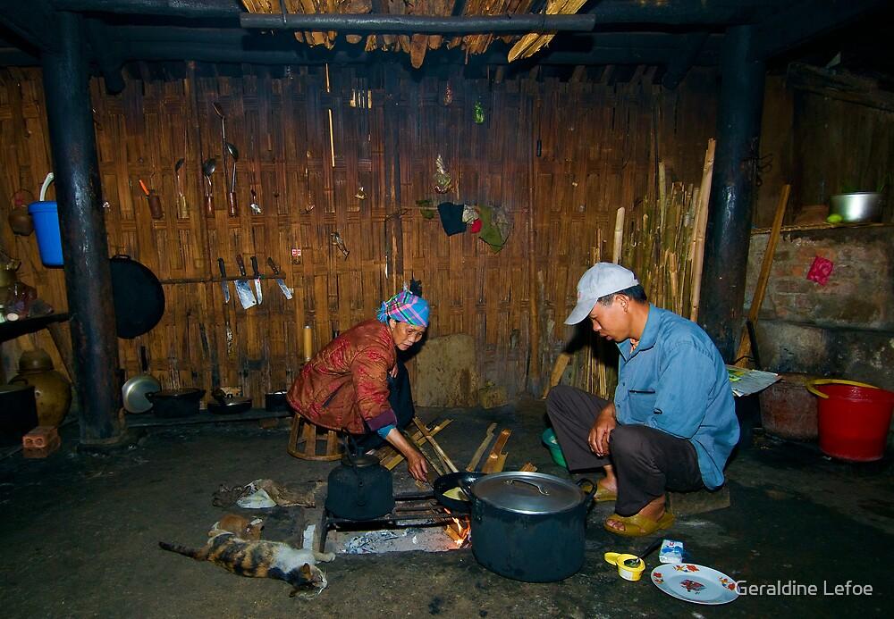 In the kitchen, Vietnam by Geraldine Lefoe