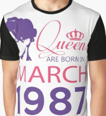 It's My Birthday 31. Made In March 1987. 1987 Gift Ideas. Graphic T-Shirt