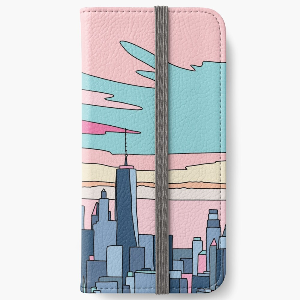 City sunset by Elebea iPhone Wallet