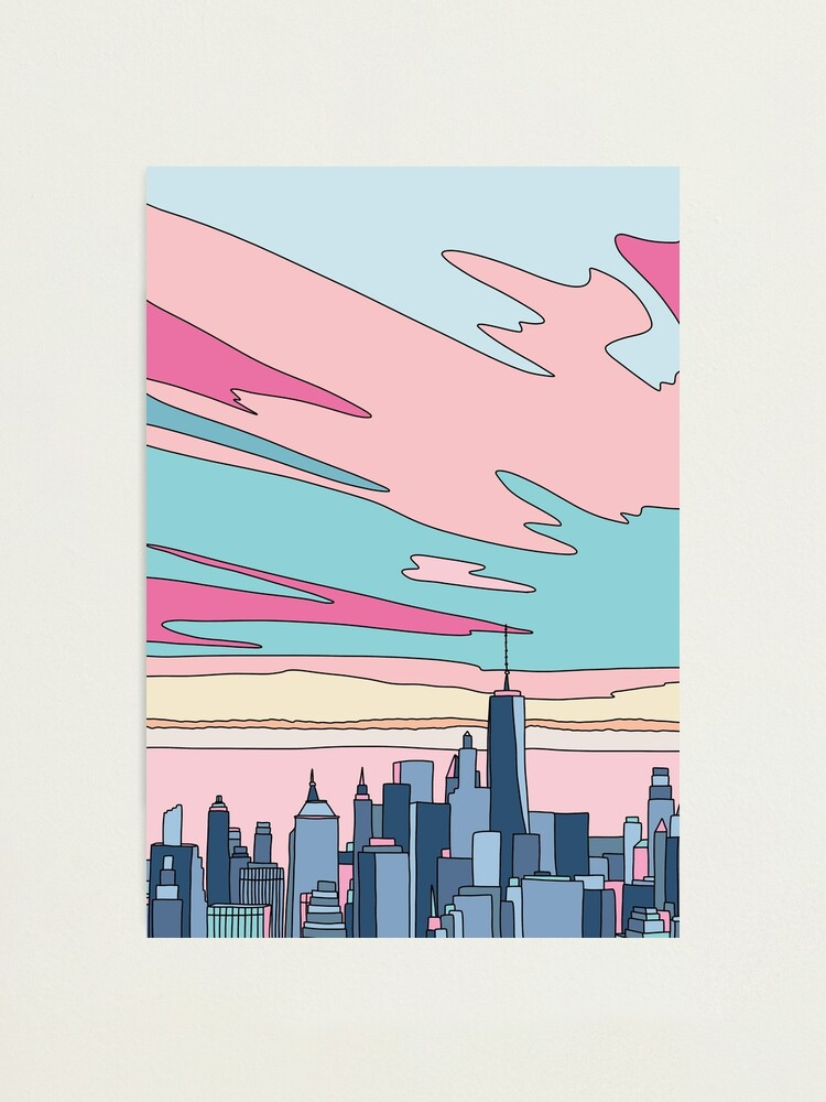 Alternate view of City sunset by Elebea Photographic Print