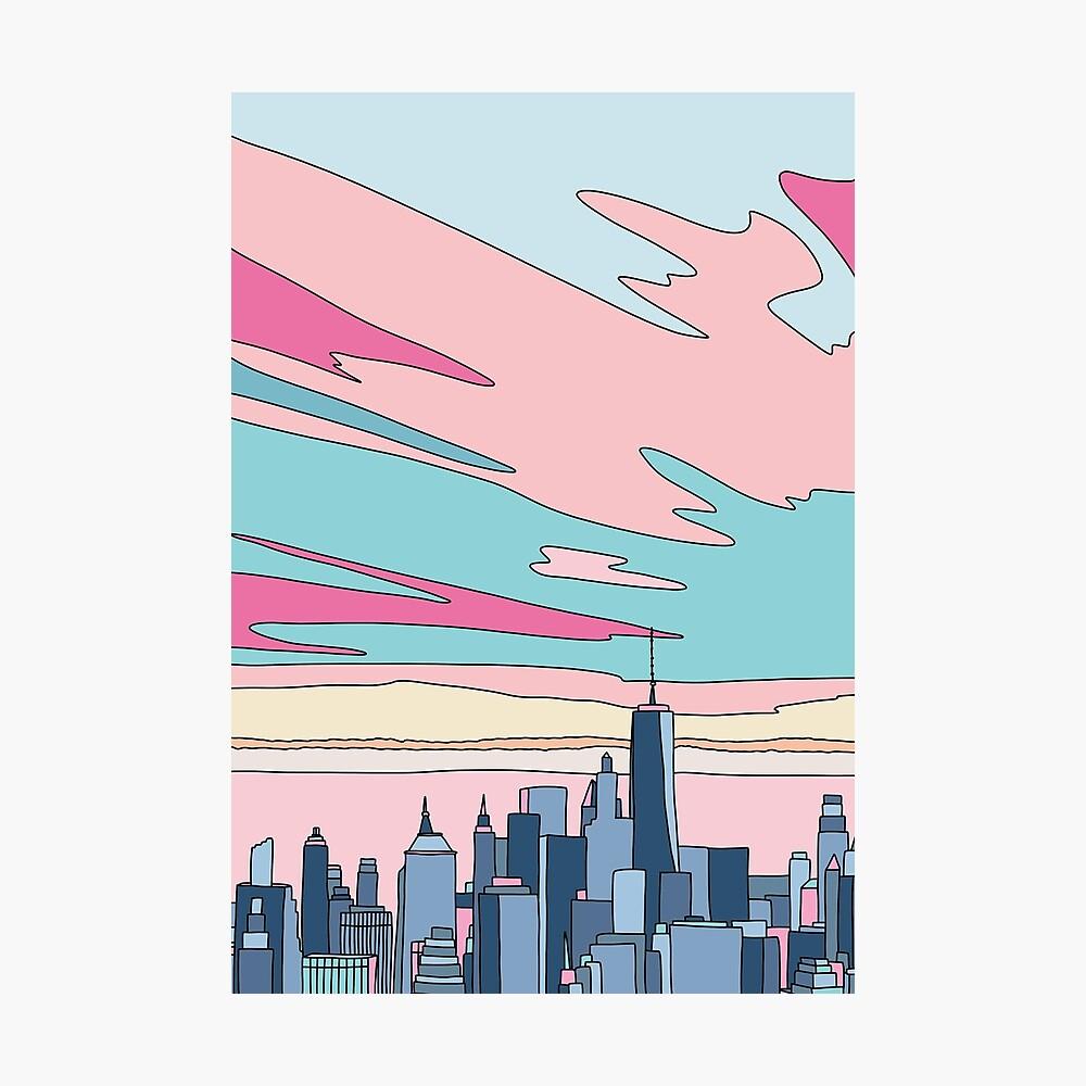 City sunset by Elebea Photographic Print