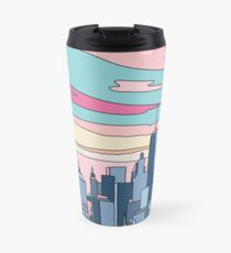 City sunset by Elebea Travel Mug