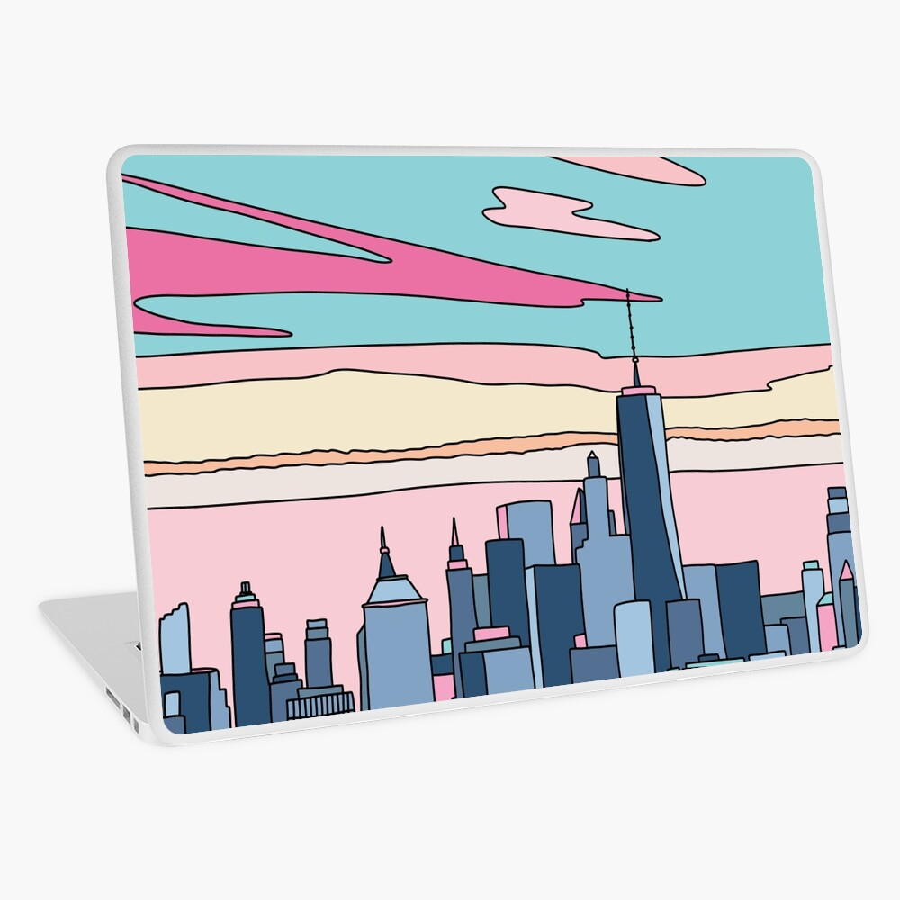 City sunset by Elebea Laptop Skin