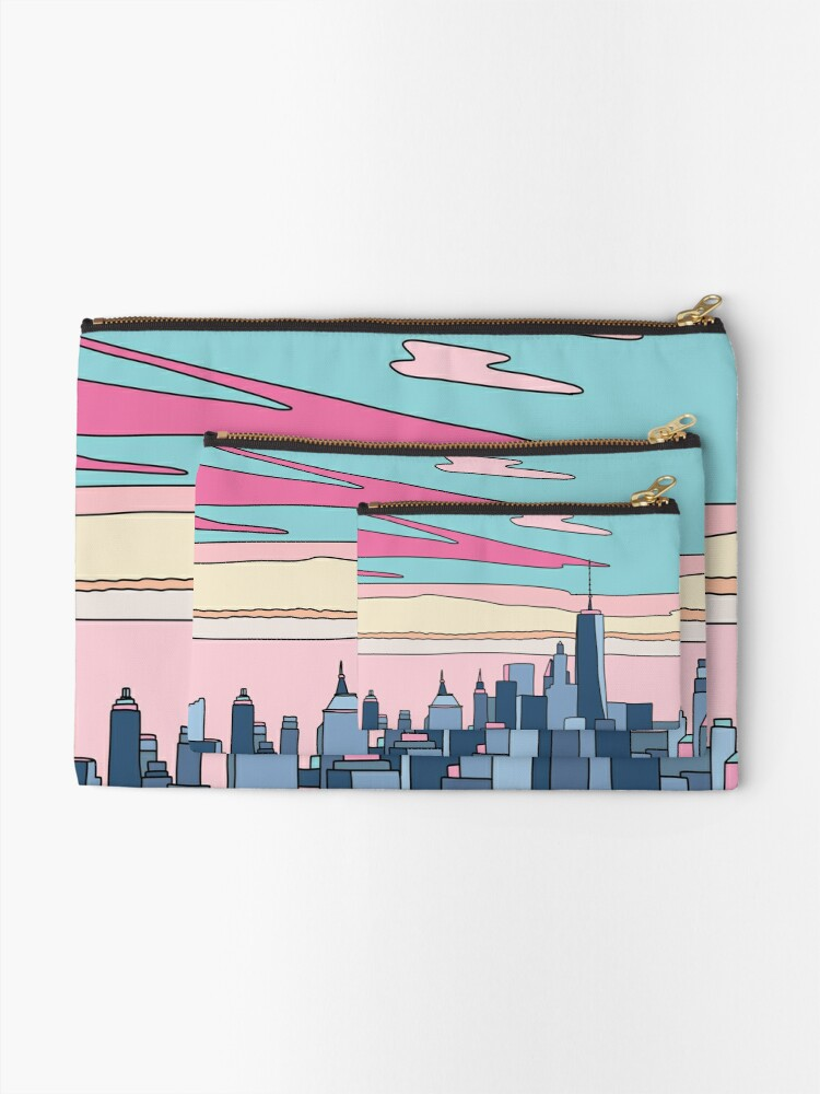Alternate view of City sunset by Elebea Zipper Pouch