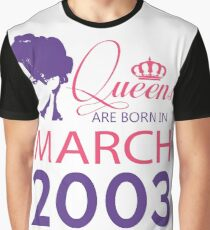 It's My Birthday 15. Made In March 2003. 2003 Gift Ideas. Graphic T-Shirt