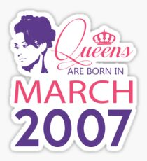 It's My Birthday 11. Made In March 2007. 2007 Gift Ideas. Sticker